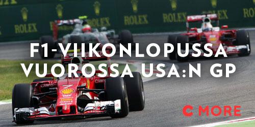 Formulasirkus saapuu Amerikan mantereelle, Austiniin. Jokohan Ferrari saisi autonsa kuntoon, vai juhlitaanko Yhdysvalloissa jo Lewis Hamiltonin mestaruutta? Entä tavoittaako Valtteri Bottas pisteissä Sebastian Vettelin?