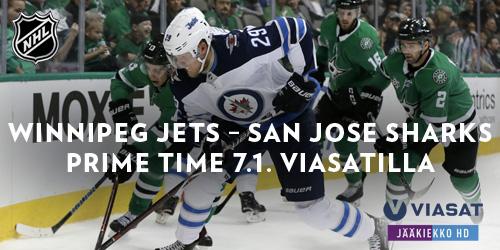 Patrik Laineen Winnipeg Jets kohtaa sunnuntaina paraatiaikaan klo 22.05 San Josen. Katso matsi Viasat Jääkiekko -kanavalla!