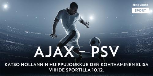Viikonloppuna Hollannin jalkapalloliigassa on tarjolla erityisen jännittävä kärkikahina, kun hollannin menestyneimpiin jalkapalloseuroihin lukeutuvat PSV ja Ajax kohtaavat toisensa sunnuntaina. Katso peli Elisa Viihde Sport 1:llä klo 17.35 alkaen.