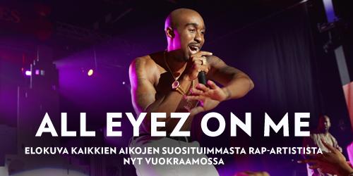 All Eyez on Me kertoo vaietun tarinan edesmenneestä Tupac Shakurista, joka oli eläessään näyttelijä, runoilija, aktivisti ja maailman eniten levyjä myynyt rap-artisti. Nyt vuokrattavissa Elisa Viihteessä.