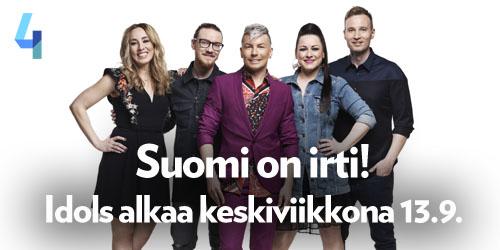 Idols-tunnelma alkaa nousta Nelosella jo maanantaina 11.9. klo 20.52, jolloin kanavalla nähdään Anatuden Ylimääräinen Uutislähetys. Idolsin ensimmäinen jakso nähdään keskiviikkona Nelosella klo 20 ja seuraava heti torstai-iltana.