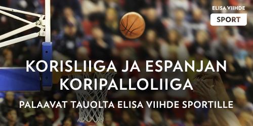 Korisliigan pelejä luvassa jälleen keskiviikkona, perjantaina, lauantaina ja sunnuntaina. Myös Espanjan liiga palaa tauolta ja Elisa Viihde Sport 1:llä nähdään mm. Sasu Salinin Unicajan ja Joventut Badalonan kohtaaminen 3.12. klo 19.20.