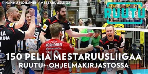 Näet Ruudusta yhteensä noin 150 kuumaa matsia lentopallon kotimaisesta Mestaruusliigasta. Kauden aikana nähdään sekä naisten että miesten sarjan otteluita aina maaliskuussa alkavien pudotuspelien loppuun asti.