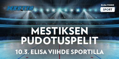 Suomen toiseksi kovimmassa jääkiekkosarjassa siirrytään pudotuspeleihin 10.3. Kaikki neljä puolivälieräottelua nähdään Elisa Viihde Sportin kanavilla 1-4 klo 16.50 alkaen.