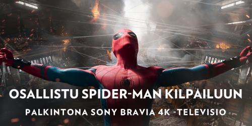 Osallistu nyt Spider-Man -arvontaan ja voit voittaa Sony Bravia television tai Spider-Man tuotteita. Arvomme yhden television sekä viisi tuotepakettia sisältäen mm. Marvel-kuulokkeet. Klikkaa ja lue lisää!