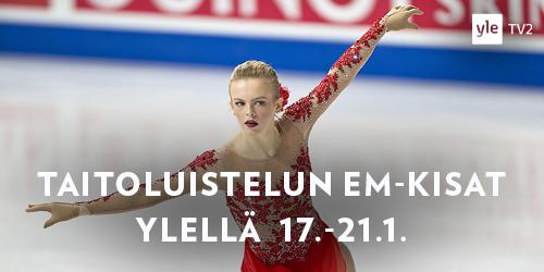 Taitoluistelun EM-kisat luistellaan Moskovassa 17.–21.1. Suomalaisista Emmi Peltosella ja Viveca Lindforsilla edessä on kova paikka: vain yksi voi saada maapaikan olympialaisiin. Klikkaa kisaohjelmaan!