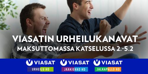 Meillä on sinulle hikisiä ja vauhdikkaita uutisia: avasimme kolme Viasatin urheilukanavaa maksuttomaan katseluun täksi viikonlopuksi. Avoimessa katselussa ovat Viasat Urheilu-, Viasat Jääkiekko- ja Viasat Jalkapallo -kanavat.
